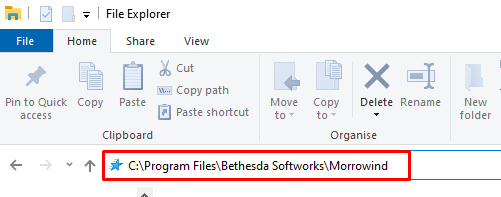 Morrowind save location on Windows File Explorer