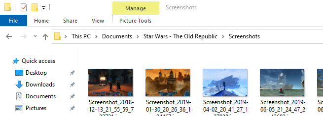 SWTOR screenshots folder