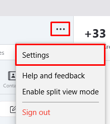 Windows Skype settings button
