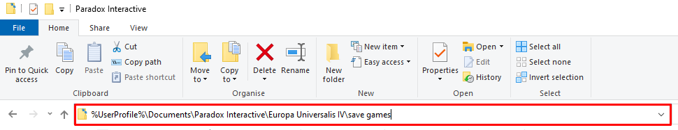 EU4 save location on Windows